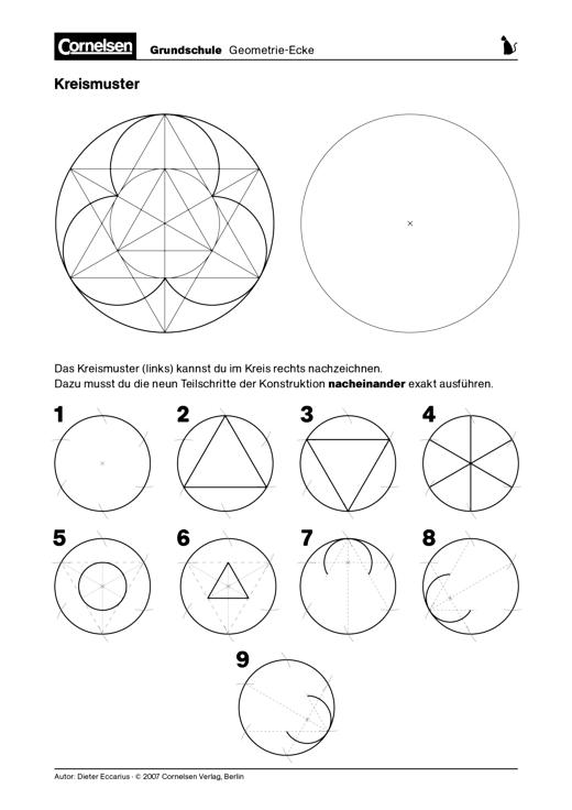 Kreismuster - Konstruktion eines Kreismusters nach Vorlage ...