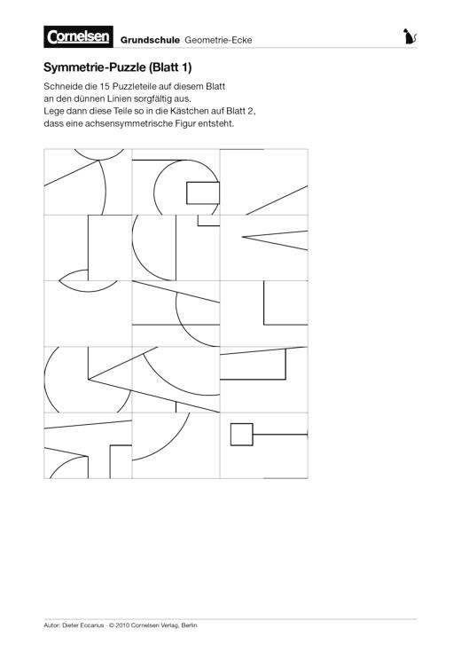 Symmetrie-Puzzle - Arbeitsblatt | Cornelsen