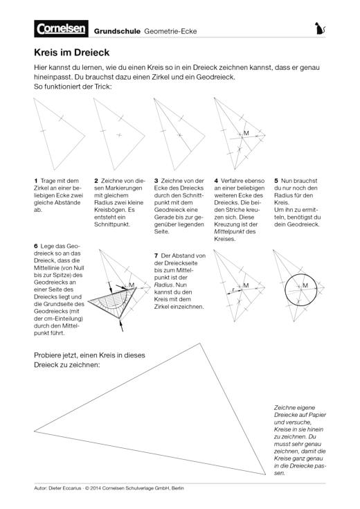 Kreis im Dreieck - Arbeitsblatt | Cornelsen