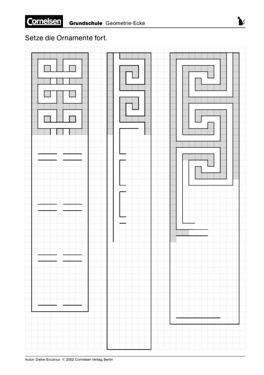 Ornamente ergänzen - Arbeitsblatt | Cornelsen