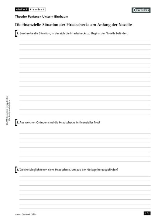 Einfach klassisch: Unterm Birnbaum - Die finanzielle Situation der ...