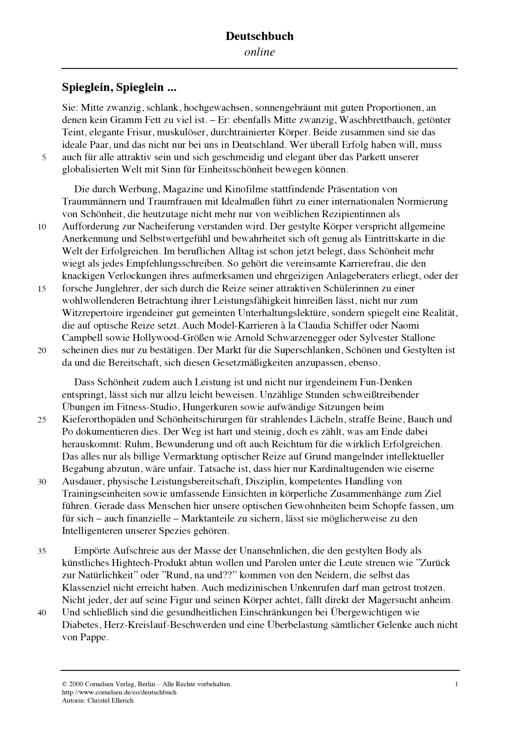 Klassenarbeit Zum Thema Textgebundene Erörterung