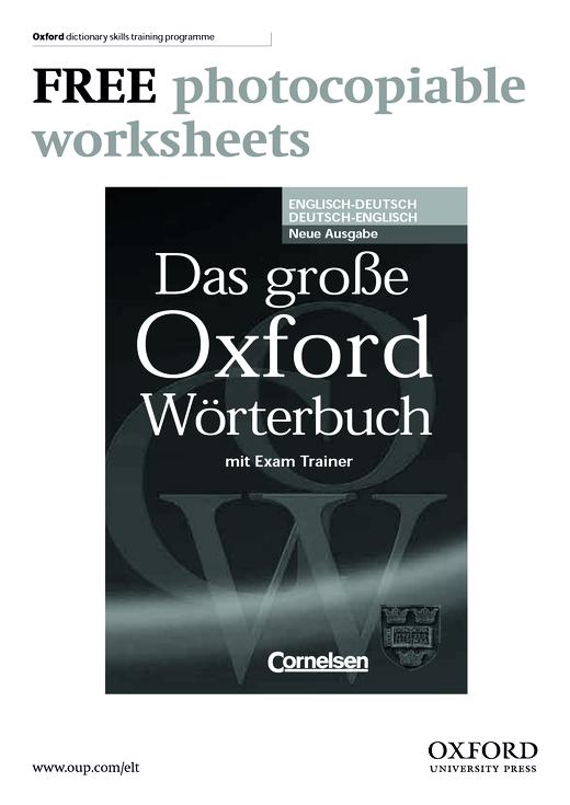 Oxford dictionary skills training programme zur neuen Ausgabe ...