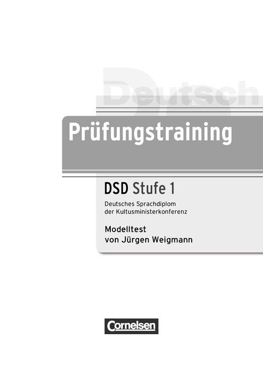 Modelltest DSD 1 - Arbeitsblatt | Cornelsen