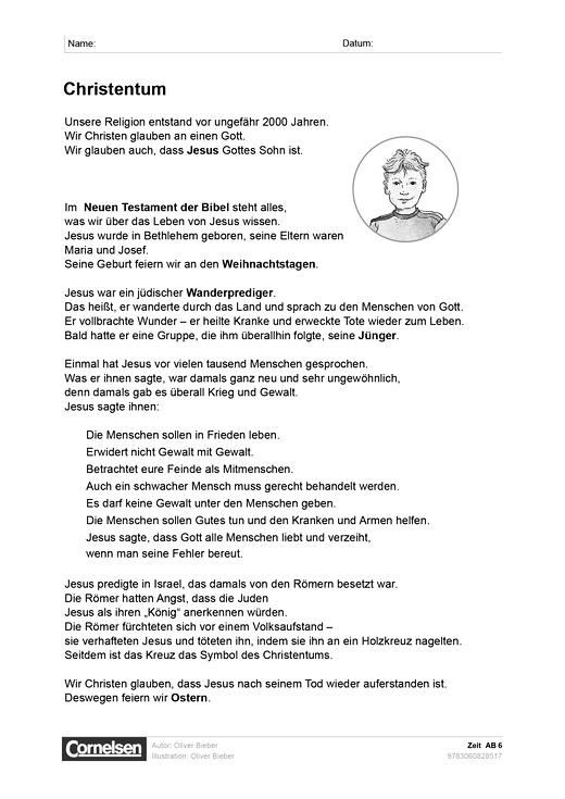Zeit: Christentum - Arbeitsblatt | Cornelsen