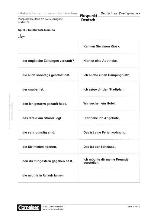 Pluspunkt Deutsch Neue Ausgabe, Band A2, Lektion 11: Von Ort zu Ort ...
