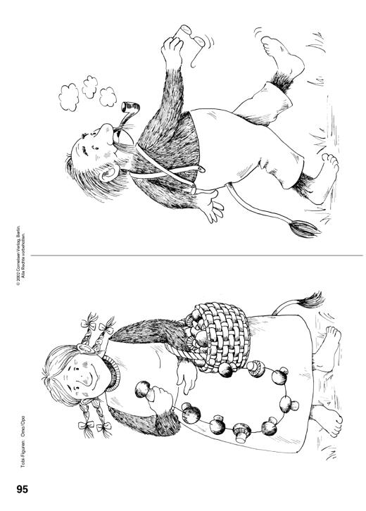 Ausmalbild zur Tobi-Familie: Oma und Opa - Arbeitsblatt | Cornelsen