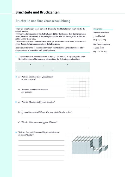 Intensivierung Klasse 6: Arbeitsblätter - Arbeitsblatt | Cornelsen
