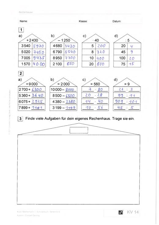Klick! Schülerlösungen Kopiervorlagen, 7. Schuljahr - Lösungen ...