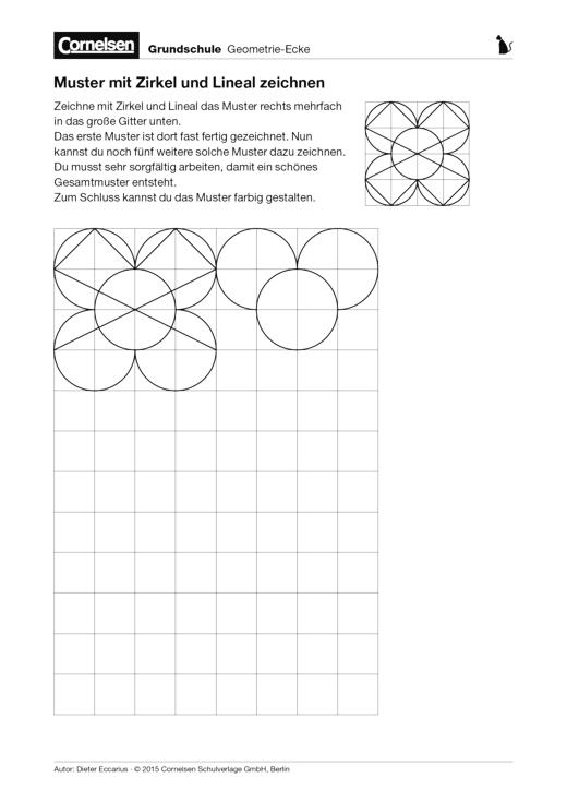 Muster Mit Zirkel Und Lineal Zeichnen Arbeitsblatt Cornelsen