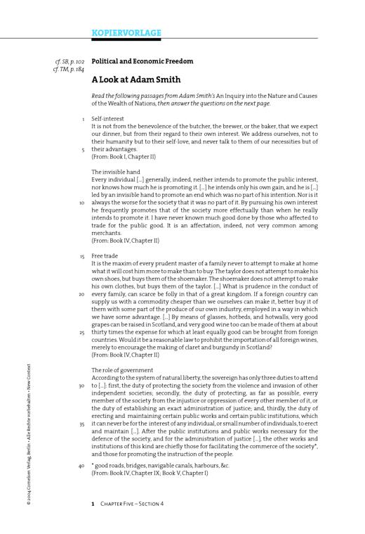 Nice Adam Smith Arbeitsblatt Component - Mathe Arbeitsblatt ...