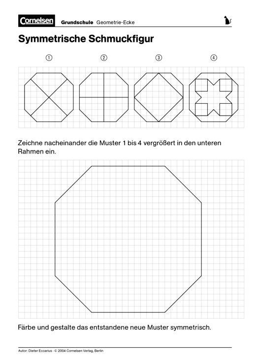 Symmetrische Schmuckfigur - Arbeitsblatt | Cornelsen