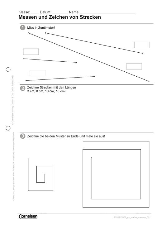 messen und zeichen von strecken arbeitsblatt cornelsen. Black Bedroom Furniture Sets. Home Design Ideas