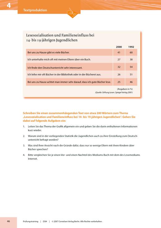 Modelltest DSH 4: Textproduktion - Arbeitsblatt | Cornelsen