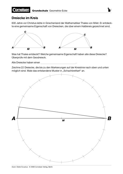 Dreiecke im Kreis - Arbeitsblatt | Cornelsen