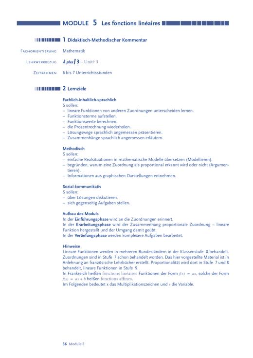 À plus ! 3, Unité 3: Les fonctions linéaires - Arbeitsblatt | Cornelsen