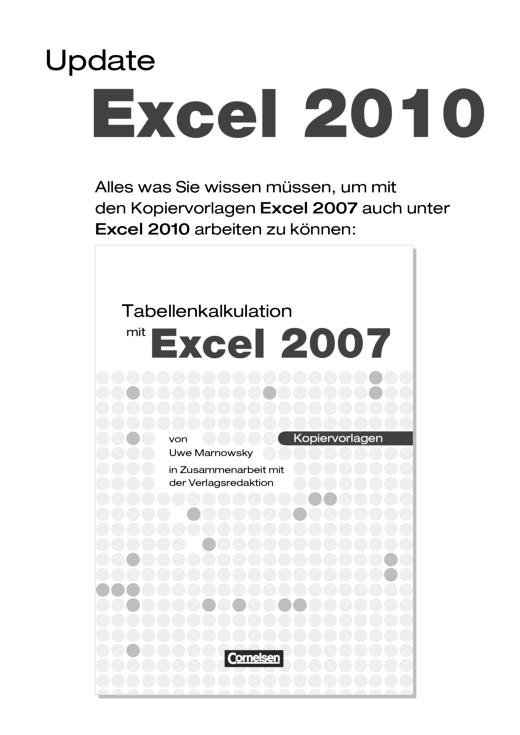 Tabellenkalkulation mit Excel - Update Excel 2010 - Arbeitsblatt ...