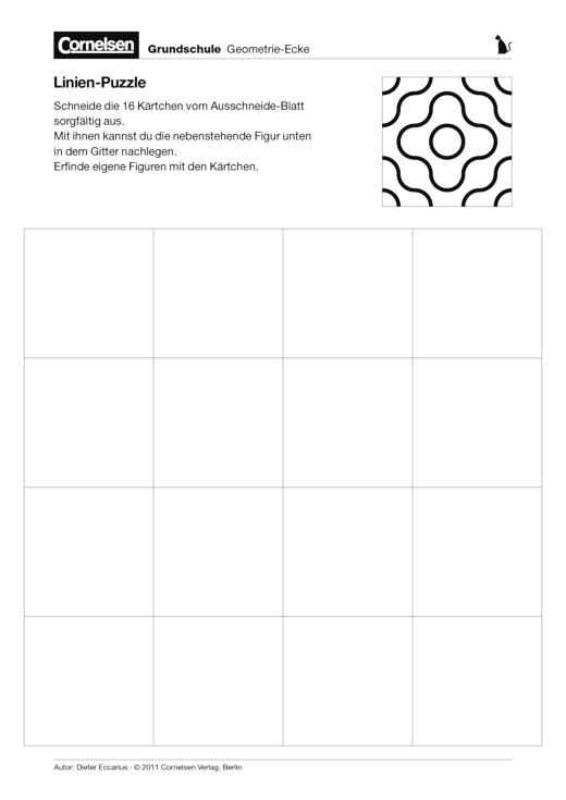Linien-Puzzle - Arbeitsblatt | Cornelsen