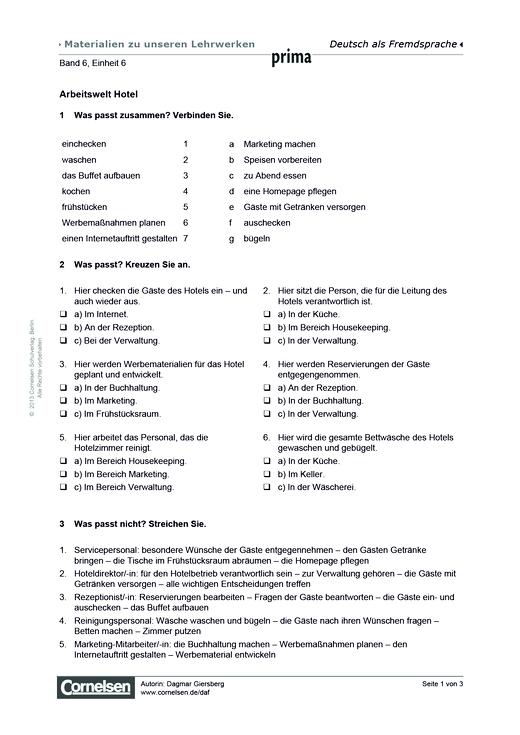 Prima B2: Band 6 Einheit 6: Arbeitswelt Hotel - Relativpronomen ...