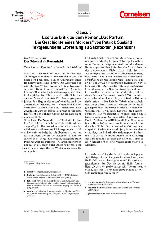 klausurvorschlag textgebundene errterung einer literaturkritikleistungsmessung test prfung zu lehrwerken - Textgebundene Erorterung Beispiel Klasse 12