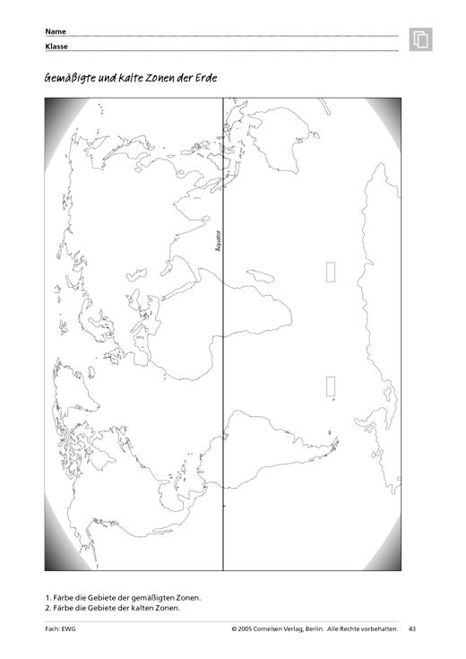 Gemäßigte und kalte Zonen der Erde (Themenfeld 1, 2 und 3 ...