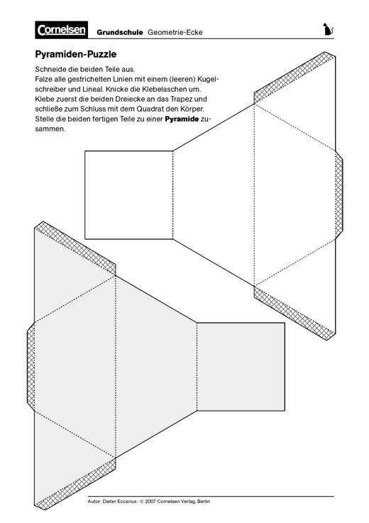 Pyramiden-Puzzle - Herstellen eines räumlichen Puzzles ...