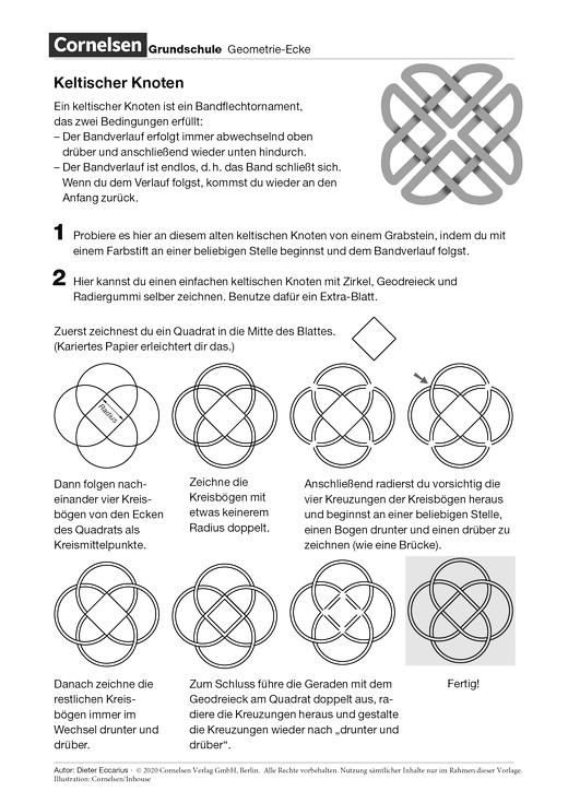 Keltischer Knoten - Arbeitsblatt | Cornelsen