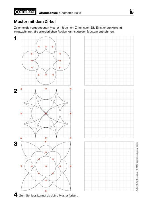 Muster mit dem Zirkel - Arbeitsblatt | Cornelsen