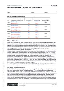 Unterrichtsmaterial zur US-Wahl | Cornelsen