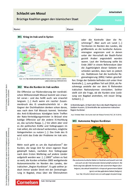 Schlacht um Mosul - Brüchige Koalition gegen den Islamischen Staat ...