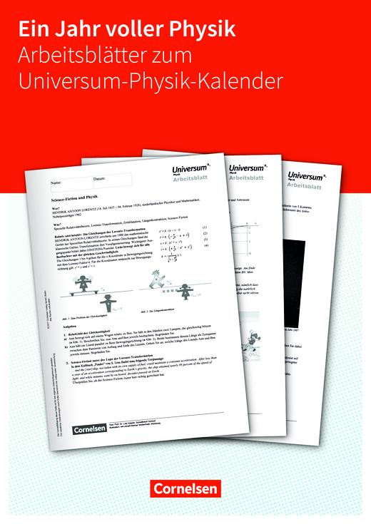 Arbeitsblätter zum Universum Physik-Kalender 2018 - Arbeitsblatt ...