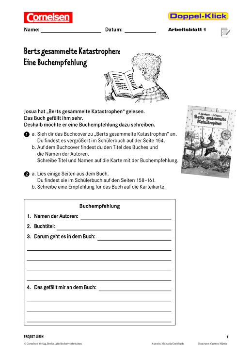 Eine Buchempfehlung schreiben: Berts gesammelte Katastrophen ...