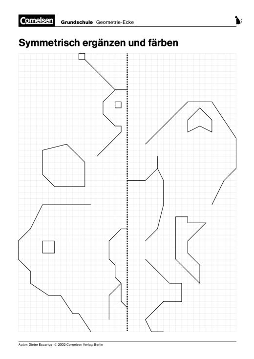 Symmetrie - Arbeitsblatt   Cornelsen