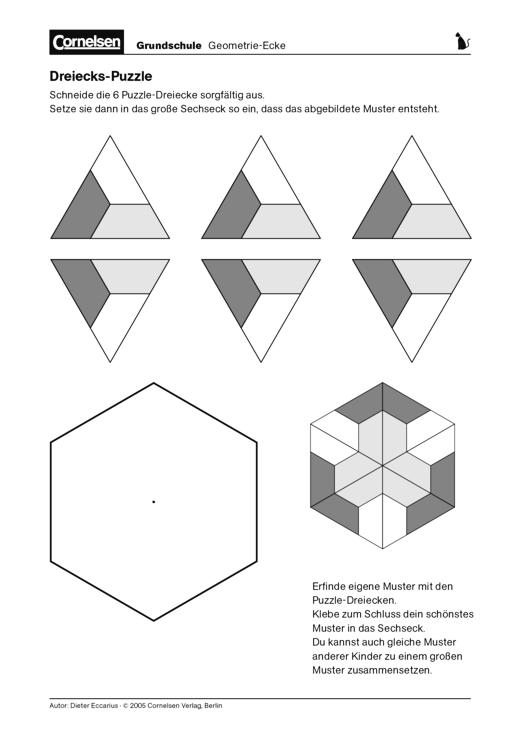 Großzügig Geometrie Puzzle Arbeitsblatt Zeitgenössisch - Gemischte ...