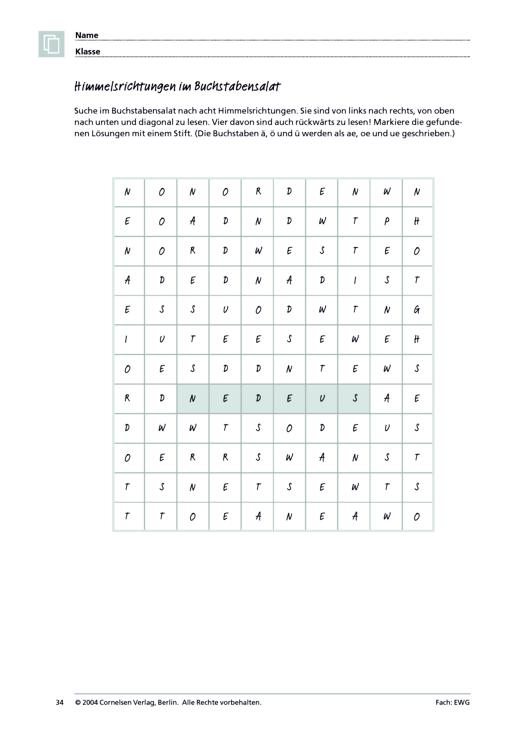 MMR 1, Themenfeld 2: Der blaue Planet - Arbeitsblatt   Cornelsen