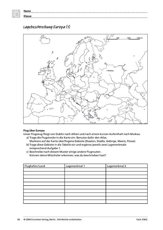 MMR 1, Themenfeld 3: Lagebeschreibung Europa - Arbeitsblatt | Cornelsen