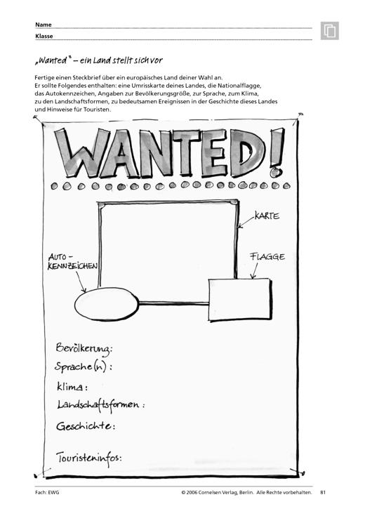 """Menschen - Märkte - Räume 3: """"Wanted"""" – ein Land stellt sich vor ..."""