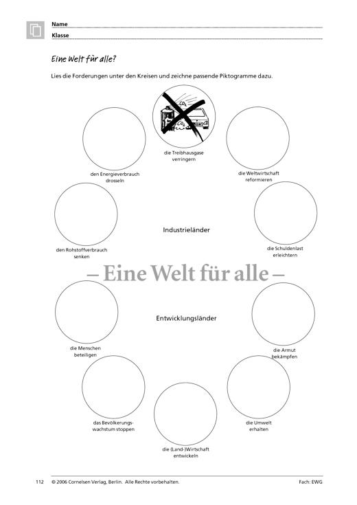 Menschen - Märkte - Räume 3: Eine Welt für alle? - Arbeitsblatt ...