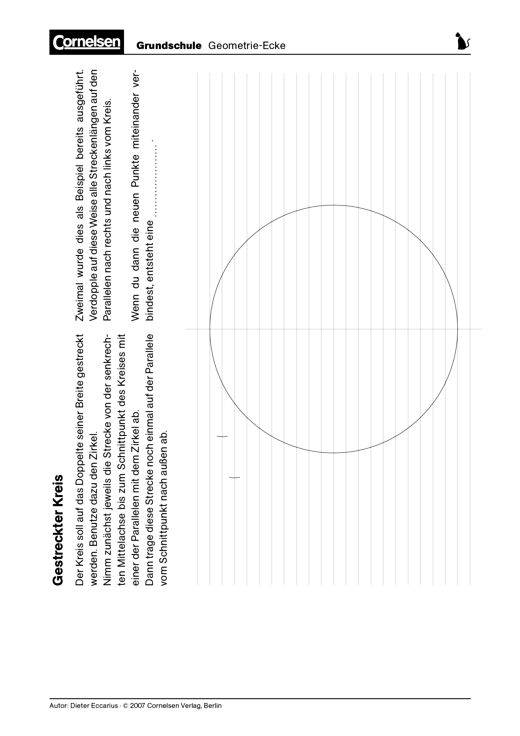 Gestreckter Kreis - Konstruktion einer Ellipse durch ...