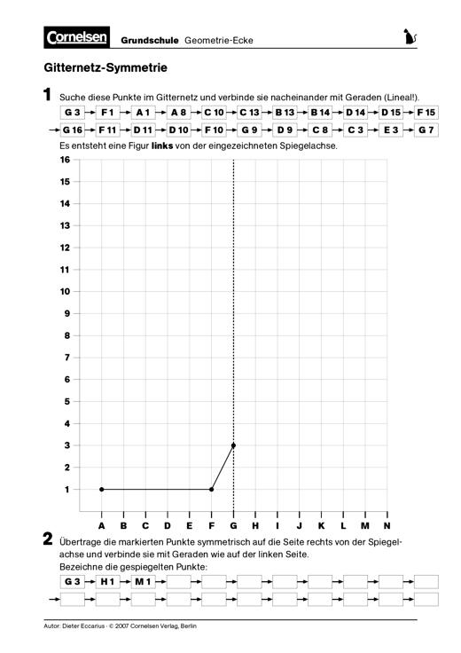 Gitternetz-Symmetrie - Punkte in einem Gitternetz markieren und dies ...
