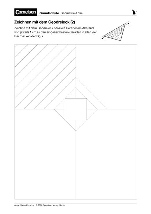 Zeichnen mit dem Geodreieck (2) - Arbeitsblatt | Cornelsen