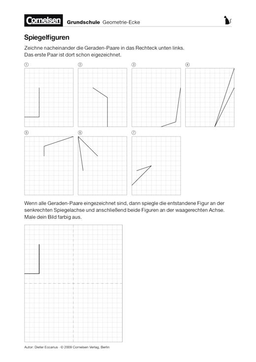 Spiegelfiguren - Arbeitsblatt | Cornelsen