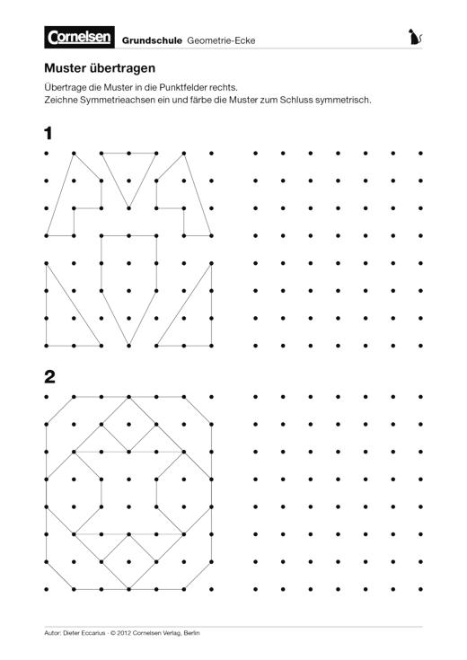 Muster Aus Punktfeldern übertragen Arbeitsblatt Cornelsen