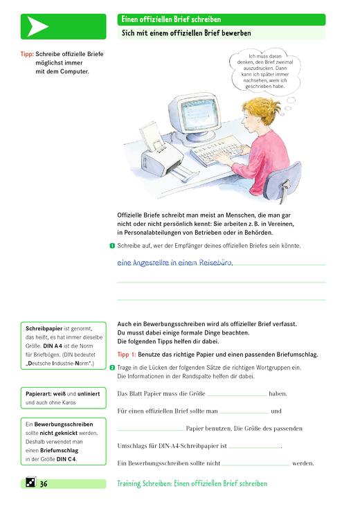 Training Schreiben Sich Mit Einem Offiziellen Brief Bewerben