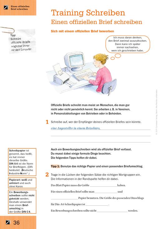 Schreiben Prüfungstraining Einen Offiziellen Brief Schreiben