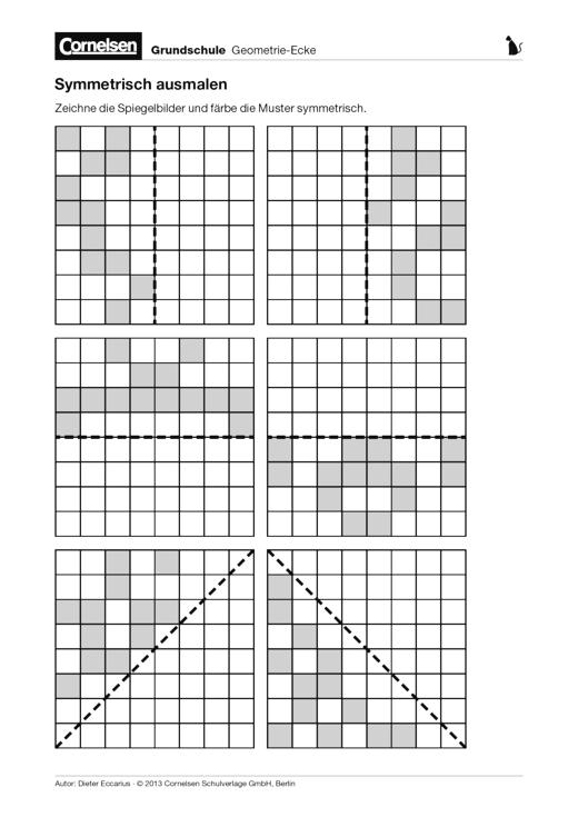 Symmetrisch ausmalen - Arbeitsblatt | Cornelsen