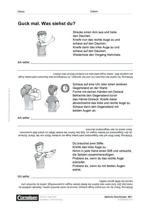 Optik - Arbeitsblatt | Cornelsen