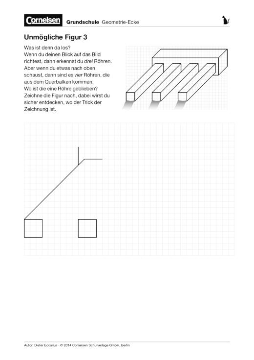 Unmögliche Figur 3 - Arbeitsblatt | Cornelsen