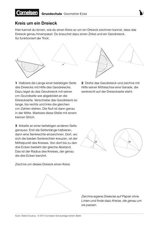 Kreis um ein Dreieck - Arbeitsblatt | Cornelsen