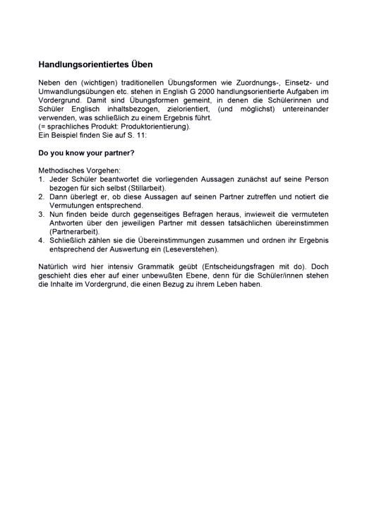Handlungsorientiertes Üben - Arbeitsblatt | Cornelsen